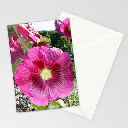 Hollyhocks in the Dream Garden Stationery Cards