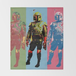 Boba Warhol Throw Blanket