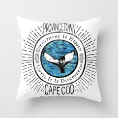 Everything is Hidden-Provincetown Throw Pillow