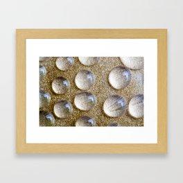 Colorful liquid droplets and blurs  Framed Art Print