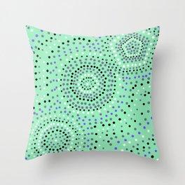 Dots- aboriginal Throw Pillow