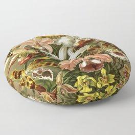 Ernst Haeckel Kunstformen der Nature Orchids Floor Pillow