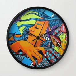 Urban Street Art: Vibrant Sleeper Mural Wall Clock
