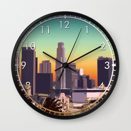 Downtown Los Angeles Wall Clock