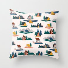 Let's stay here Throw Pillow