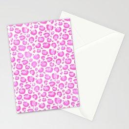 Light Pink Leopard Print  Stationery Cards