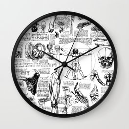 Da Vinci's Anatomy Sketchbook Wall Clock