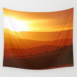 Golden morning in Africa Wall Tapestry