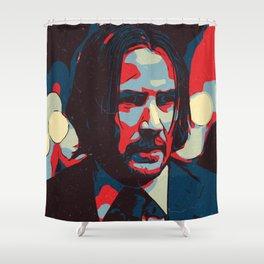 John Wick Artwork Shower Curtain