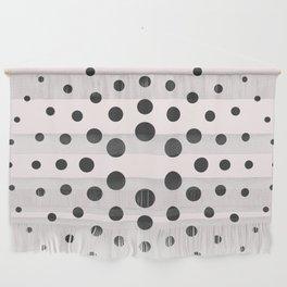 Mid-Century Modern Art - Bubblegum Spiral Dots Wall Hanging