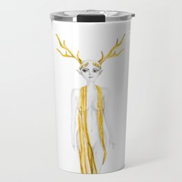 the Queen deer black and white golden collection Travel Mug
