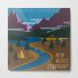 Antonín Dvořák New World Symphony Cover Art  Metal Print