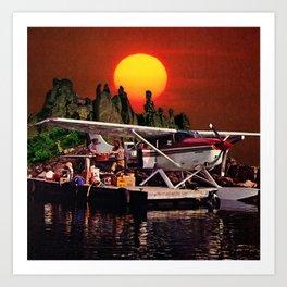 Sunset Departure Art Print