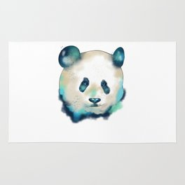 Cute Space Galactic Artsy Panda Bear Rug