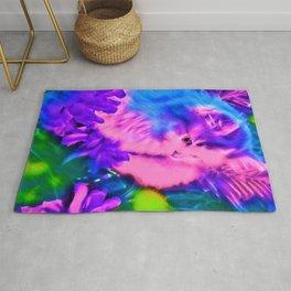 Purple Kitten Rug