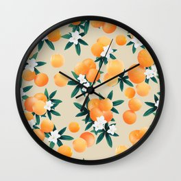Orange Twist Flower Vibes #9 #tropical #fruit #decor #art #society6 Wall Clock