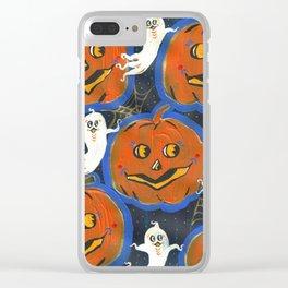 Spooky Jack o' lanterns Clear iPhone Case