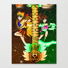 Fusion Sailor Moon Guitar #20 - Sailor Venus & Sailor Jupiter Canvas Print