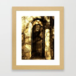 Door To Nowhere Framed Art Print