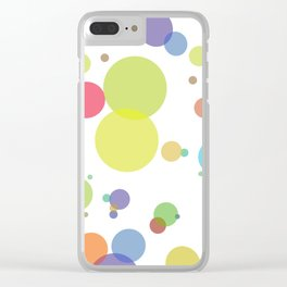 dots and circles Clear iPhone Case