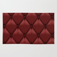 leather Area & Throw Rugs featuring red leather by Cardinal Design