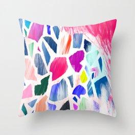 Pink Terrazzo Throw Pillow
