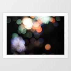 Bokeh Fireworks Art Print