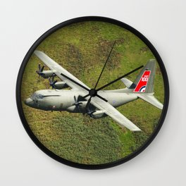 Low Flying Hercules With Special RAF Centenary Tail Art Wall Clock