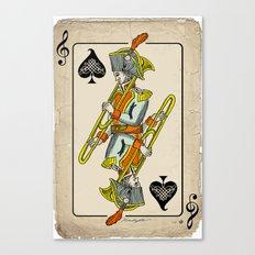 musical poker / trombone Canvas Print