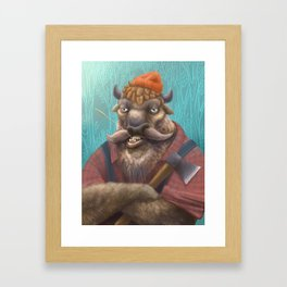 Bison Lumberjack Framed Art Print