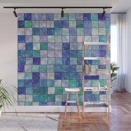 Blue tiles Wall Mural