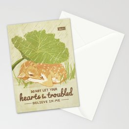 Do Not Let Your Hearts be Troubled - John 14:1 Stationery Cards