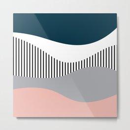 Colorful waves design Metal Print