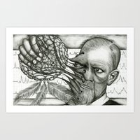 freud Art Prints featuring Freud by CasiRodriguez