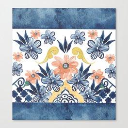 Talavera Flowers Canvas Print