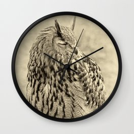 eagle owl Wall Clock