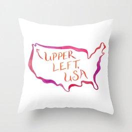Upper Left, USA - Warm Hues Throw Pillow