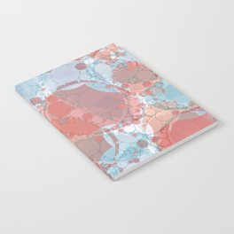 Round And Round Coral Blue Notebook