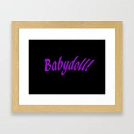 Babydoll Framed Art Print