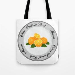 Citrus Festival Plate Tote Bag