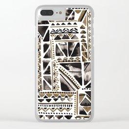 Metallic Geo Clear iPhone Case