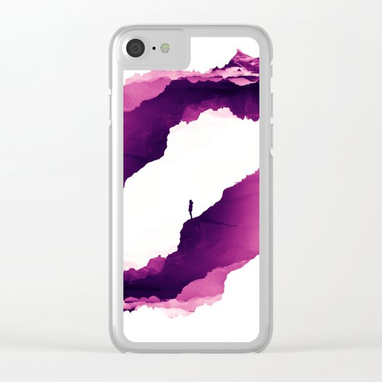 Purple Isolation Clear iPhone Case