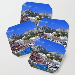 The Beach in Capri, Italy Coaster