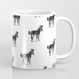 ZEBRA PATTERN BLACK AND WHITE MULTI TIERED Coffee Mug