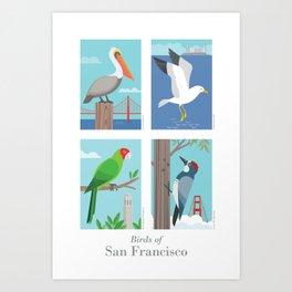 Birds of San Francisco Art Print