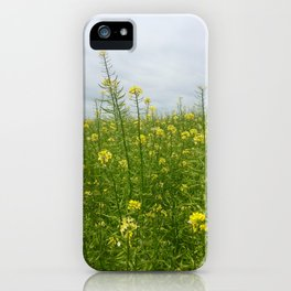 Field of Green and Gold iPhone Case