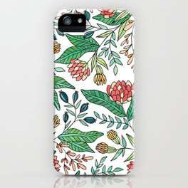 Wildflower Pattern - Full Color iPhone Case