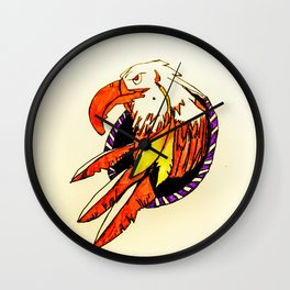 Eagle Dreamcatcher Wall Clock