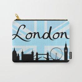 London Script on Union Jack Sky & Sites Carry-All Pouch