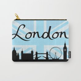 London Script on Union Jack Sky & Sites Carry-All Pouch